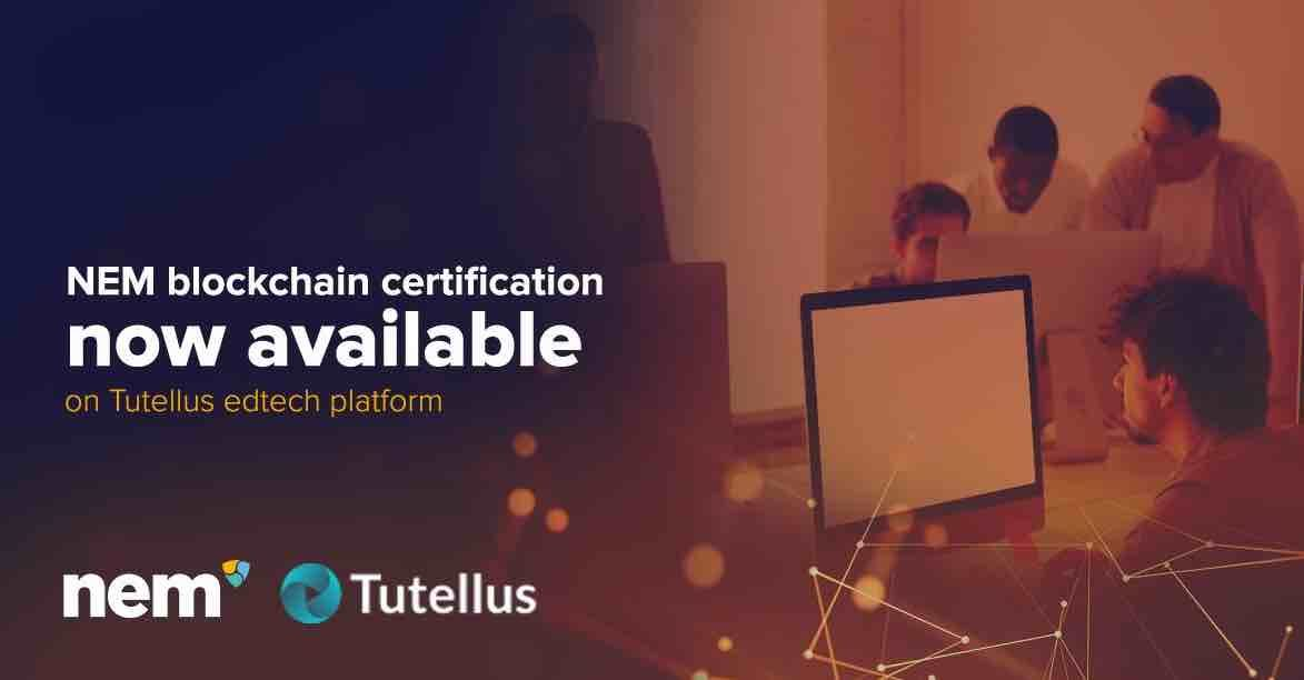 Tutellus-nem blockchain certification now available on tutellus edtech platform
